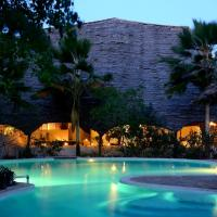 Unguja Lodge pool by night
