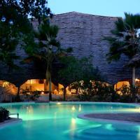 Unguja Lodge pool by night